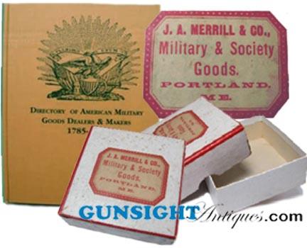 Civil War era Portland, Maine  MILITARY GOODS DEALER – pasteboard box (Image1)
