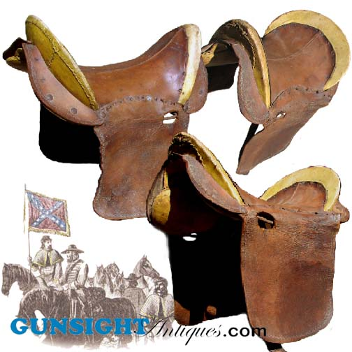 Civil War era - SOUTHERN MILITARY SADDLE (Image1)