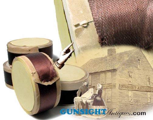 Victorian era POLISHED SATIN RIBBON – Original Unopened Spool! (Image1)