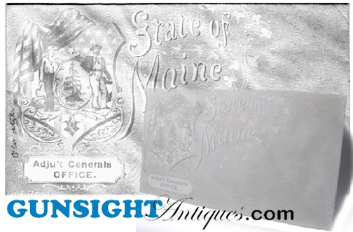 Civil War era MAINE Adju't GENERAL / POSTAL COVER (Image1)