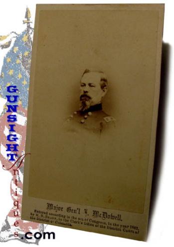 Civil War vintage Mjr. Gen. McDowell – Brady C.D.V. (Image1)