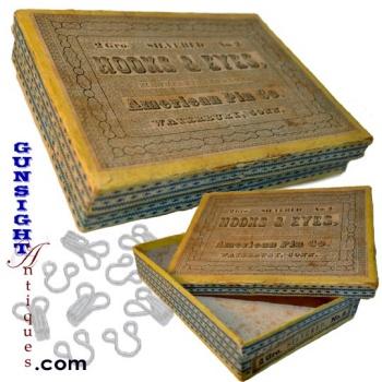 Civil War era  PASTEBOARD - AMERICAN PIN Co. - BOX (Image1)