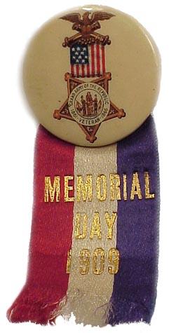 Civil War VETERAN - G.A.R. MEMORIAL DAY- BADGE (Image1)