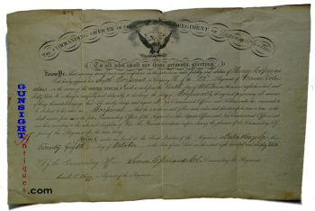 Civil War Promotional Warrant to 6th Corporal - 22nd MAINE INFANTRY (Image1)