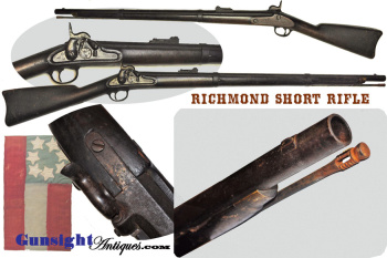 rare! early Confederate Arsenal production -  RICHMOND SHORT RIFLE (Image1)