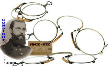 Early steal frame PINCE-NEZ SPECTACLES  (Image1)
