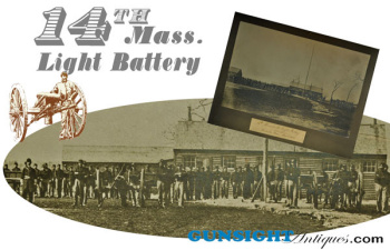 14 X 21 ½ inch -  14th Mass. Light Battery PHOTOGRAPH (Image1)