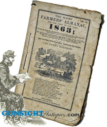 1863 Maine - Farmer's Almanac