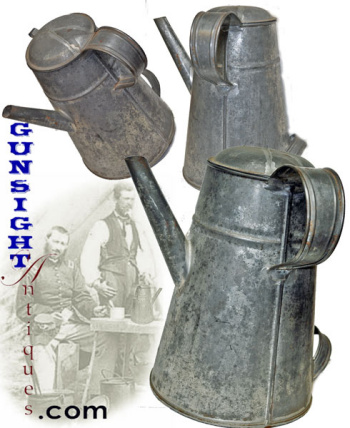 Civil War era SIDE SPOUT COFFEE POT (Image1)