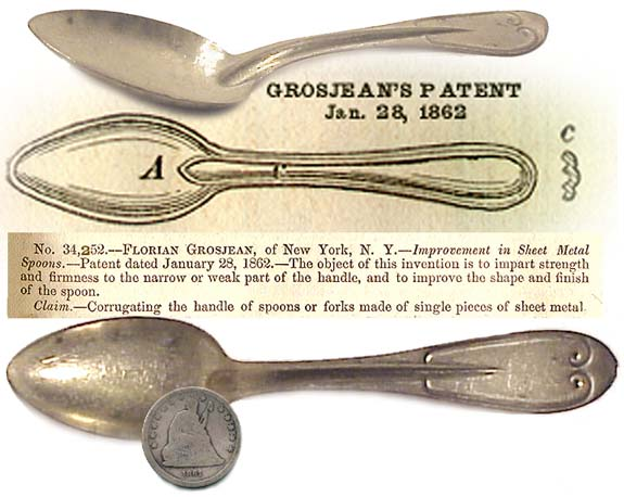 Civil War era Pat. of 1862 MESS SPOON (Image1)