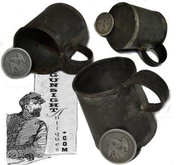 earlier 18th Century through Civil War TIN CUP  (Image1)