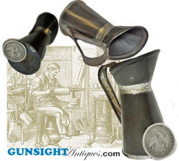 Mid 1800s Miniature Tin Pitcher