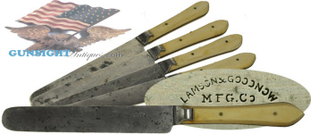 Civil War vintage Lamson & Goodnow MESS KNIFE (Image1)
