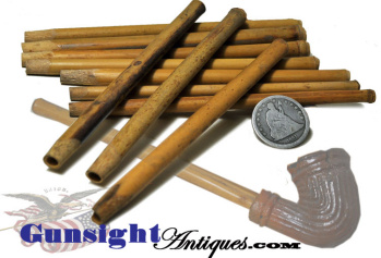 Old Un-used Reed Tobacco Pipe Stems