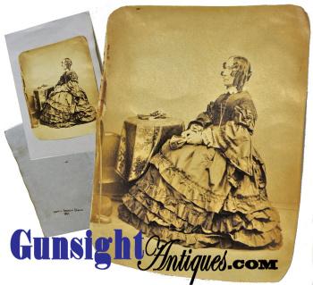 c. 1864 Harriet Beecher Stowe  PHOTOGRAPH (Image1)