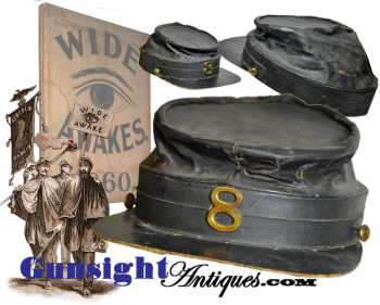 Original ! Civil War era  WIDE AWAKE style Kepi (Image1)