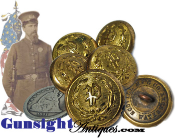 Lot Of 6 - C  1860 / 1870 Police Buttons