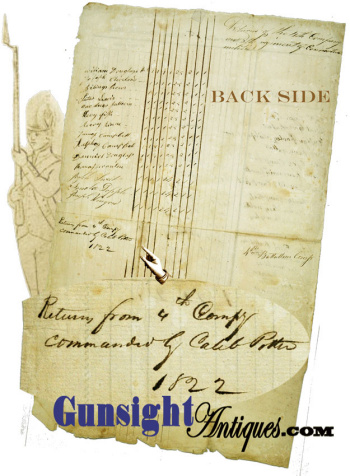 c.1822 - 8th CONN. MILITIA INSPECTION RETURN (Image1)