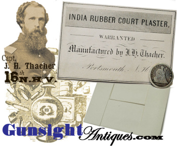 Civil War era Medical / Surgical ¬- INDIA RUBBER COURT PLASTER  (Image1)