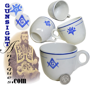 Antique Masonic / Eastern Star - Lodge Hall Coffee Cup