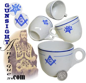antique Masonic / Eastern Star - Lodge Hall Coffee Cup (Image1)