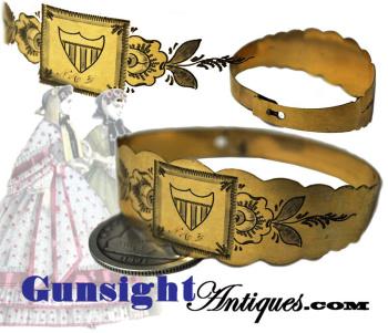 Civil War era 10k GOLD PATRIOTIC BRACELET  (Image1)