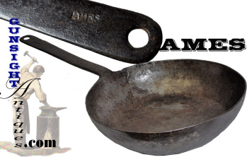 Early Ames Marked Blacksmith Forged Skillet