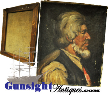 Oil Portrait - 19th Century Maine Ship Builder / Guy C. Goss) By Helen M. Hinds
