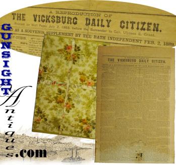 rare ! Bath, Maine 1889, republished – 1862 Vicksburg Dailey Citizen (Image1)