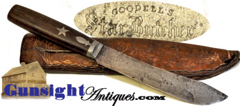 Goodell's Pat. 1868 'star Butcher' Belt Knife