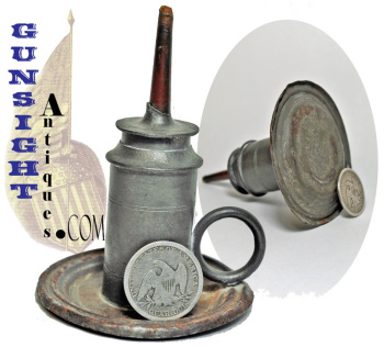 C. 1840 / 1850 Pewter Hand Lamp