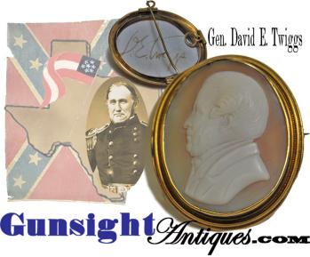 important- U.S. Army then Confederate- Gen. David E. Twiggs - CAMEO (Image1)
