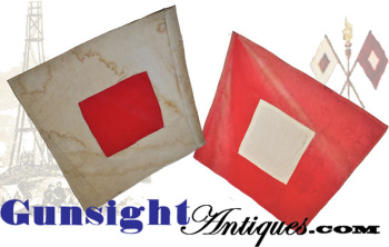 Antique Signal Corps Flags