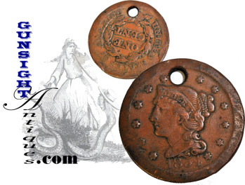 Civil War era  'COPPERHEAD' IDENTIFICATION DISK (Image1)