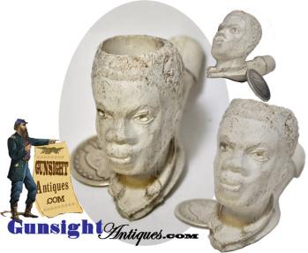 19th Century Black Americana Figural Clay Tobacco Pipe  (Image1)