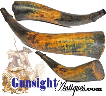 Antique Country Powder Horn