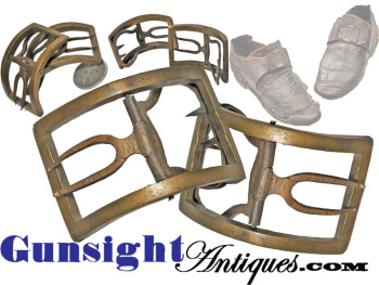 original ! 18th century bronze SHOE BUCKLES (Image1)