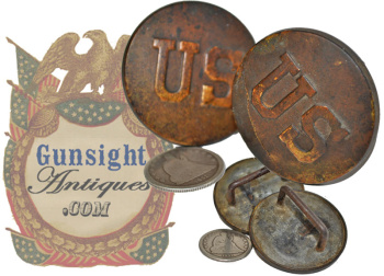 antique  U. S. Bridle Rosettes (Image1)