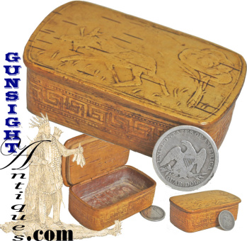 Victorian era - Birch Bark Snuff Box  (Image1)