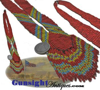 vintage Native American Trade Bead Necklace (Image1)