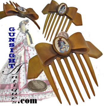 Civil War Vintage Ladies - Patriotic Horn Comb