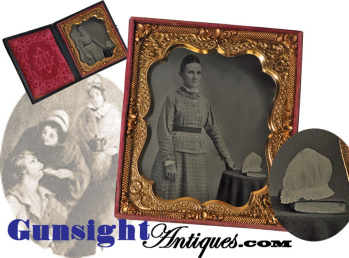 post Civil War cased 6th plate NURSE TINTYPE (Image1)