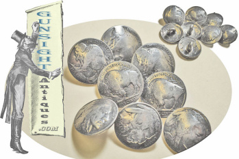 8 Buffalo Nickel Buttons