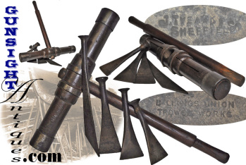 turn of the century Ships Caulking Mallet & Irons - U.S.S. CONSTITUTION  (OLD IRONSIDES) (Image1)