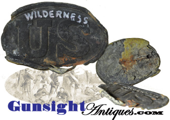 WILDERNESS - Civil War BATTLEFIELD PICKUP Cartridge Box Plate (Image1)