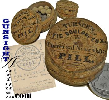 mid 1860s TURNER'S NEURALGIA PILL - BOX (Image1)