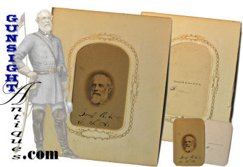 Civil War Vintage Confederate Gen. Robert E. Lee - Cdv Photograph
