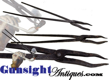 18th/mid 19th Century hand forged PIPE TONGS (Image1)