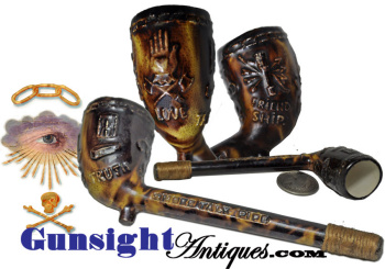 19th Century Odd Fellows Fraternal - Smoke Talk Pipe