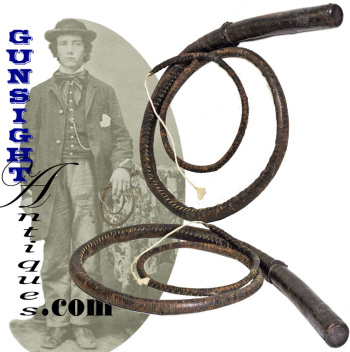 Mid 1800s Antique Drover's Bullwhip